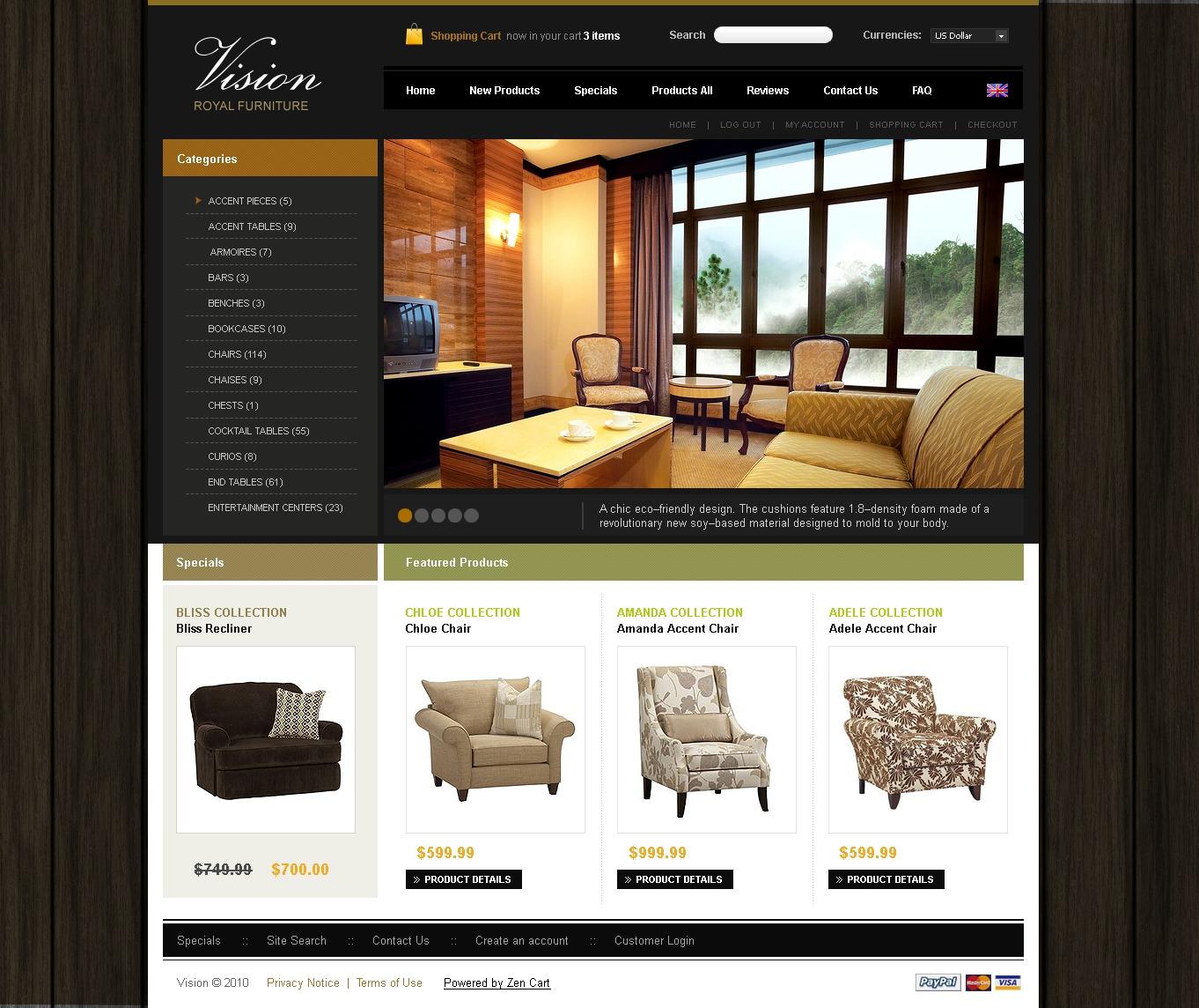 Магазин дизайна для сайтов